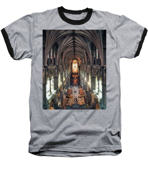 View Through Ely Cathedral Baseball T-Shirt