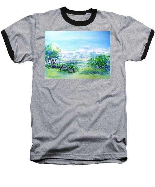 View Through The Gap,wicklow  Baseball T-Shirt by Trudi Doyle