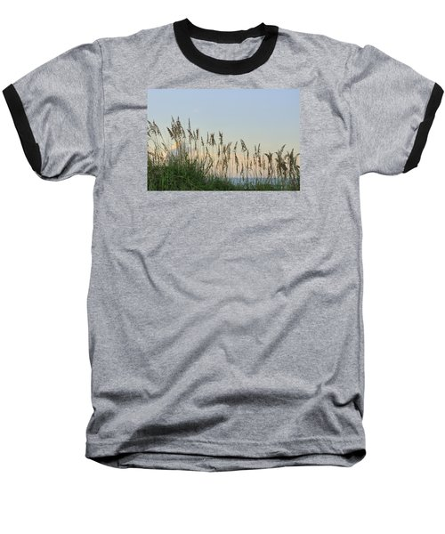 Baseball T-Shirt featuring the photograph View Through The Sea Oats by Bradford Martin