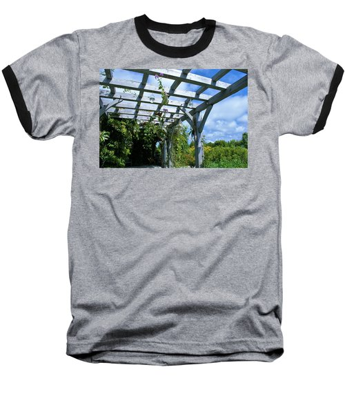 View To The Sky Baseball T-Shirt by Lois Lepisto