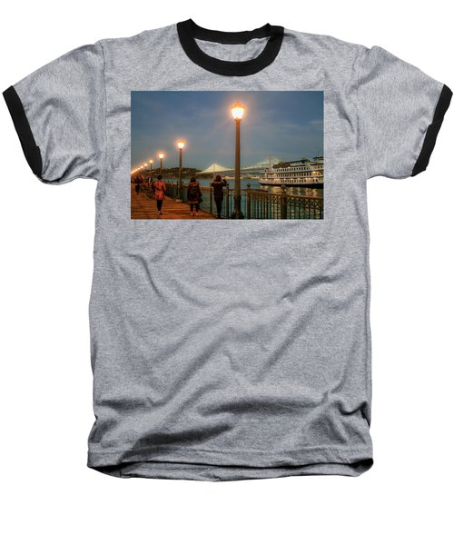 Viewing The Bay Bridge Lights Baseball T-Shirt