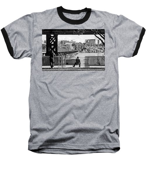 Baseball T-Shirt featuring the photograph Viewpoint by Alan Raasch