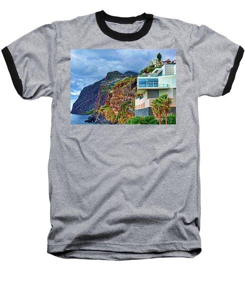 Viewpoint Over Camara De Lobos Madeira Portugal Baseball T-Shirt