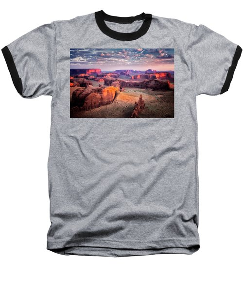 Views From The Edge  Baseball T-Shirt by Nicki Frates