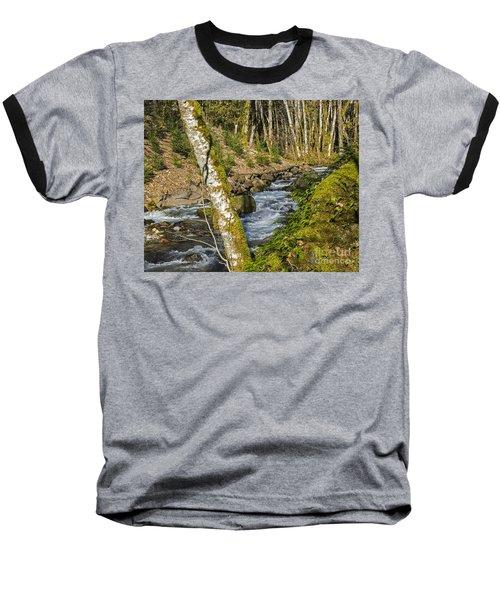 Views Of A Stream, I Baseball T-Shirt by Chuck Flewelling