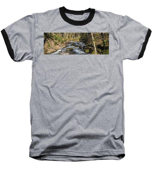 Views Of A Stream, II Baseball T-Shirt by Chuck Flewelling