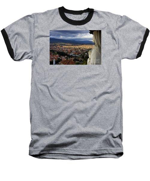 Vigil Over Cuenca From Turi Ecuador Baseball T-Shirt by Al Bourassa