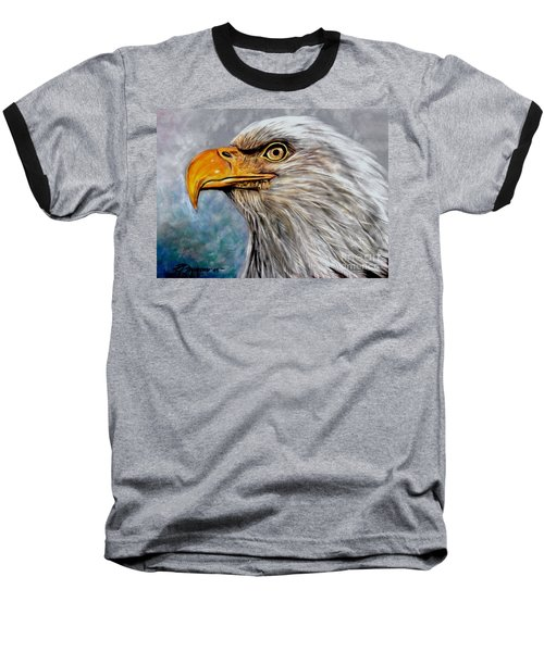 Baseball T-Shirt featuring the painting Vigilant Eagle by Patricia L Davidson