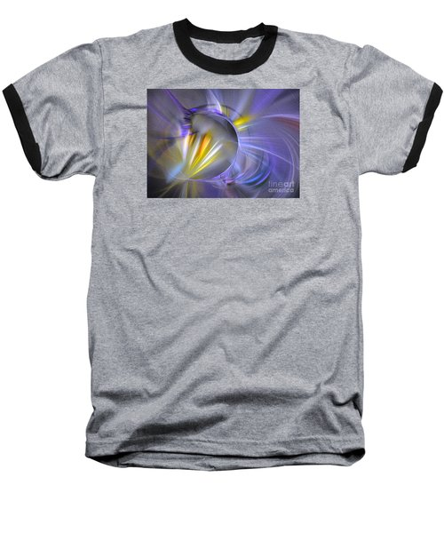 Baseball T-Shirt featuring the digital art Vigor - Abstract Art by Sipo Liimatainen