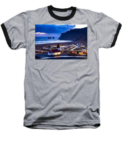 Vik Iceland Baseball T-Shirt by Mariusz Czajkowski