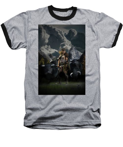 Viking Gefjon Baseball T-Shirt