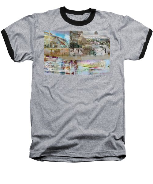 Vikings Stadium Collage 2 Baseball T-Shirt