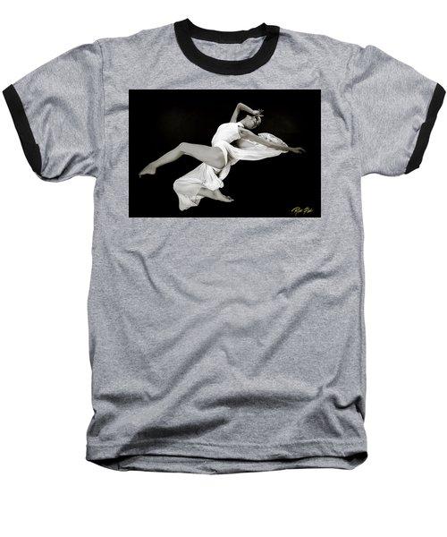 Baseball T-Shirt featuring the photograph Viktory On Black by Rikk Flohr
