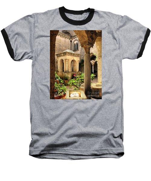 Villa Cimbrone. Ravello Baseball T-Shirt by Jennie Breeze