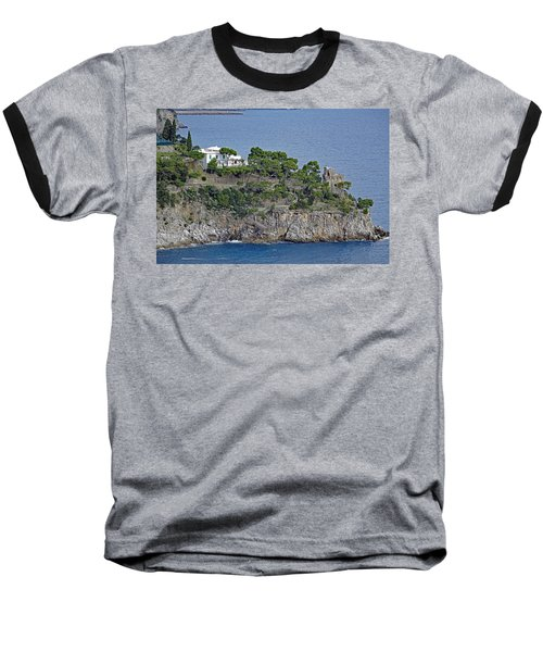 Villa Owned By Sophia Loren On The Amalfi Coast In Italy Baseball T-Shirt by Richard Rosenshein