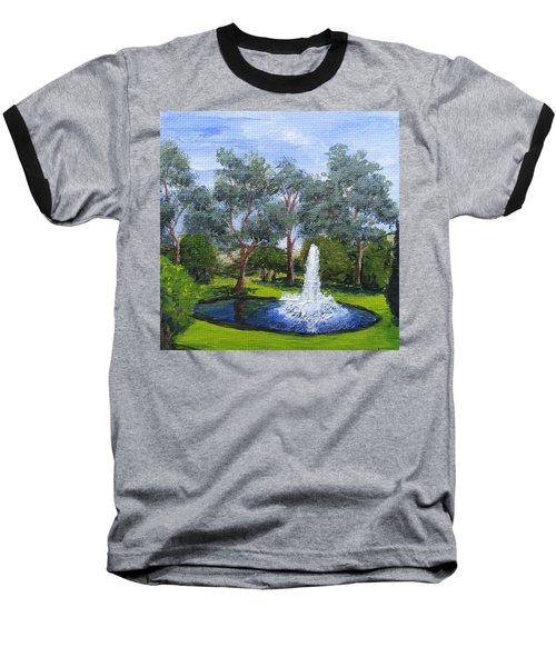 Village Fountain Baseball T-Shirt