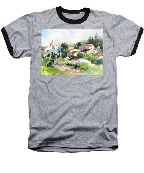 Village Life 5 Baseball T-Shirt by Rae Andrews