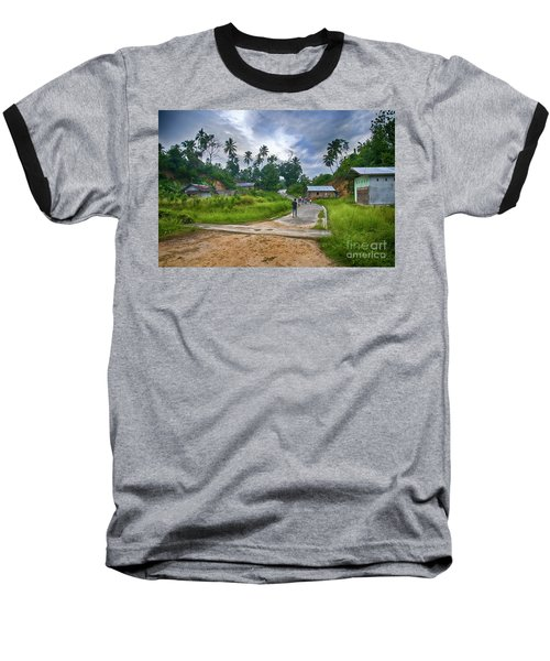 Baseball T-Shirt featuring the photograph Village Scene by Charuhas Images