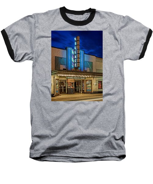 Village Theater Baseball T-Shirt by Jerry Gammon