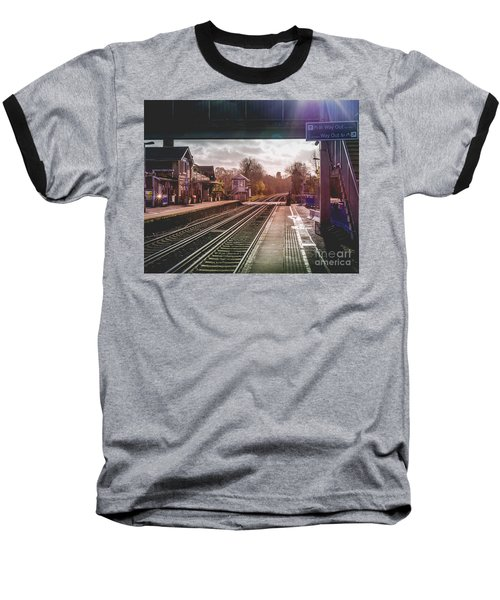 The Village Train Station Baseball T-Shirt