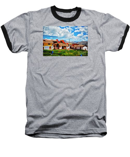 Village Up High In Peruvian Mountains Baseball T-Shirt