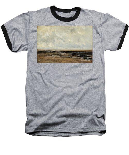 Villerville Beach In Normandy Baseball T-Shirt