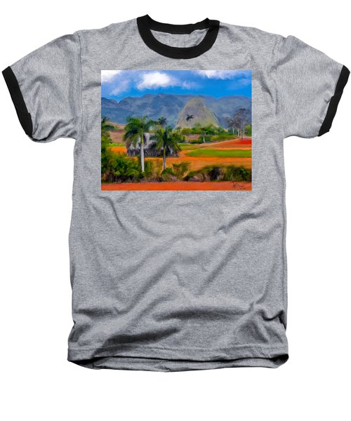 Vinales Valley. Cuba Baseball T-Shirt