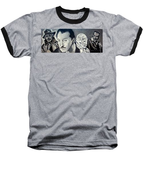 Vincent Price Baseball T-Shirt by Paul Weerasekera