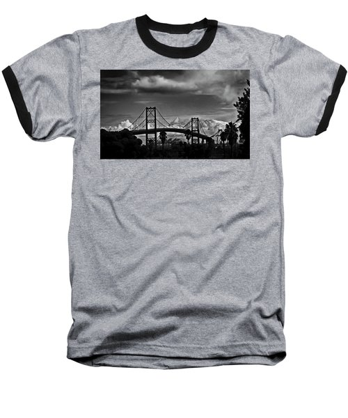 Baseball T-Shirt featuring the photograph Vincent Thomas Bridge by Joseph Hollingsworth