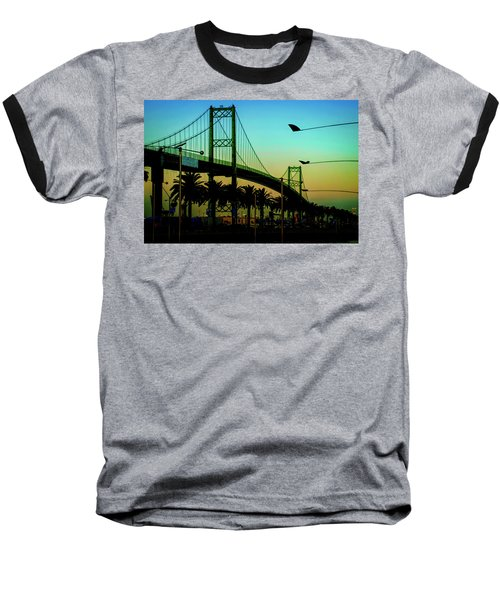Vincent Thomas Bridge Baseball T-Shirt