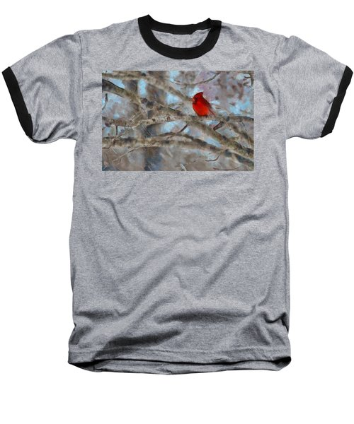 Baseball T-Shirt featuring the mixed media Vincent by Trish Tritz