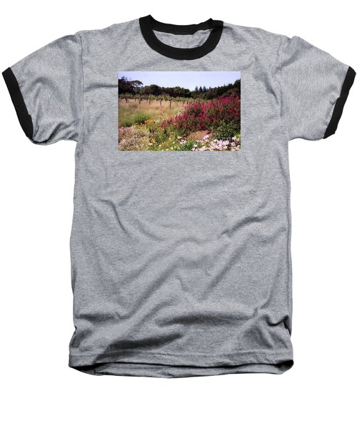 vines and flower SF peninsula Baseball T-Shirt by Ted Pollard