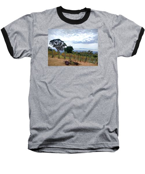 Baseball T-Shirt featuring the photograph Vineyard Over The City by Haleh Mahbod
