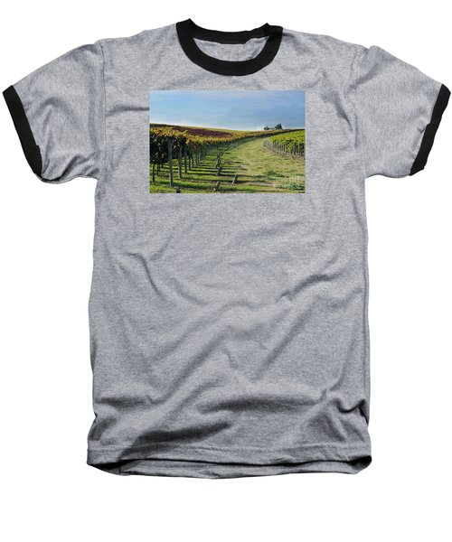 Baseball T-Shirt featuring the photograph Vineyard Shadows Livermore by Haleh Mahbod