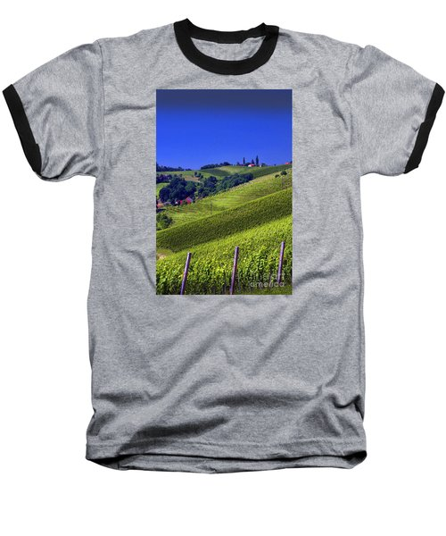 Vineyards Of Jerusalem Slovenia Baseball T-Shirt by Graham Hawcroft pixsellpix
