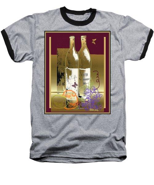 Vin, Fruit, Et Papillons Baseball T-Shirt