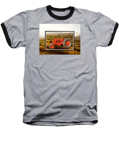 Vintage 1948 Case Dc Tractor Baseball T-Shirt by Deborah Moen