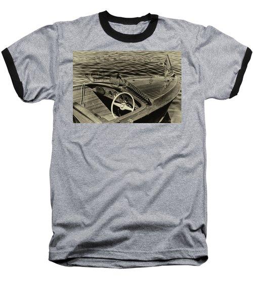 Vintage 1958 Chris Craft Utility Boat Baseball T-Shirt