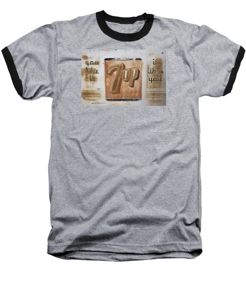 Baseball T-Shirt featuring the photograph Vintage 7 Up Sign by Christina Lihani