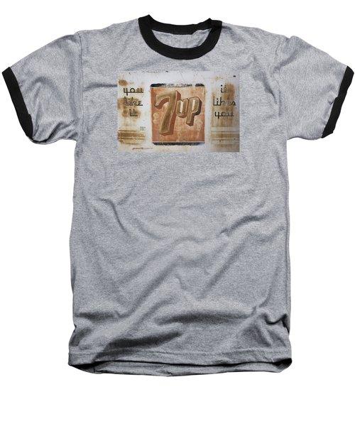 Vintage 7 Up Sign Baseball T-Shirt