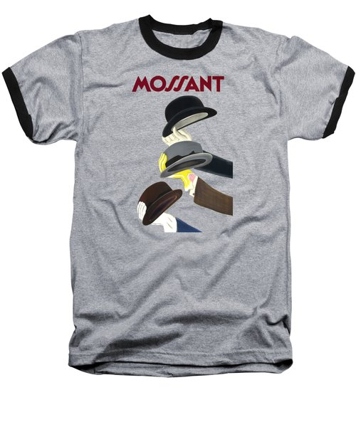 Vintage Advert Poster Mossant Baseball T-Shirt