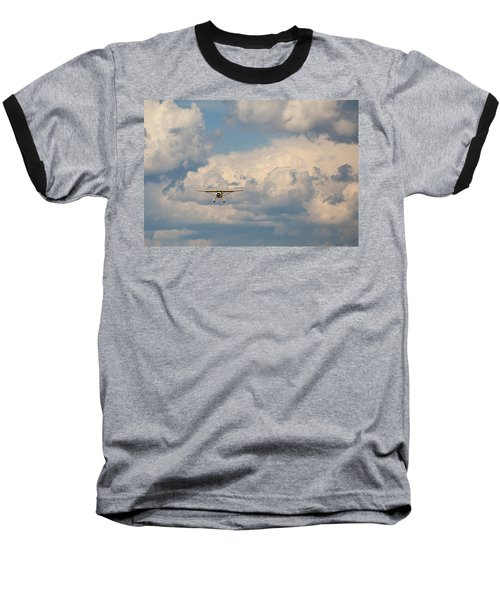 Baseball T-Shirt featuring the photograph Vintage Airplane by Fran Riley