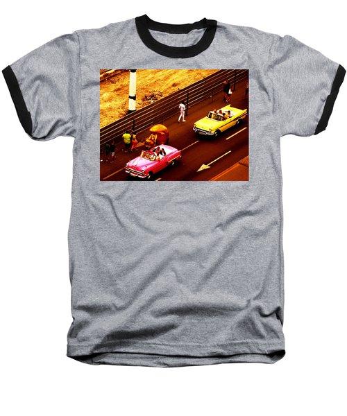 Vintage American Cars In Havana  Baseball T-Shirt