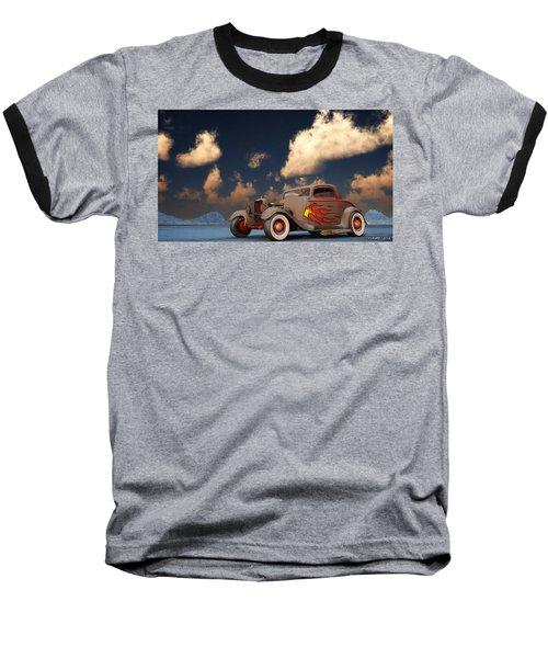 Vintage American Hot Rod Baseball T-Shirt by Ken Morris
