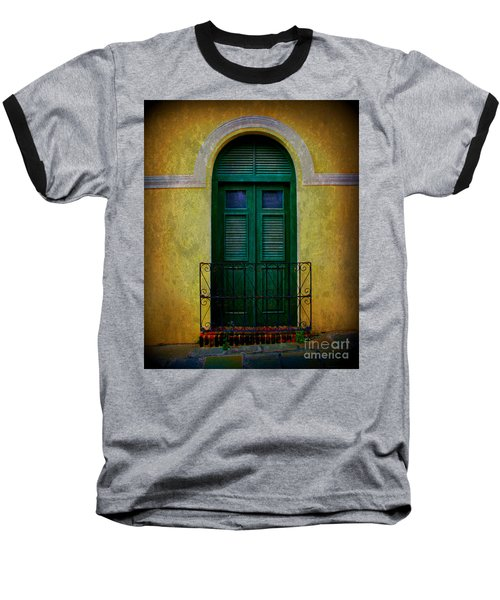 Vintage Arched Door Baseball T-Shirt by Perry Webster