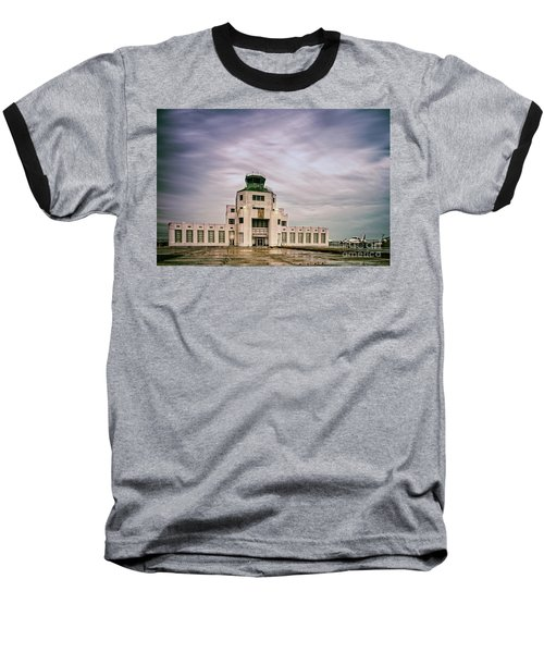 Vintage Architectural Photograph Of The 1940 Air Terminual Museum - Hobby Airport Houston Texas Baseball T-Shirt