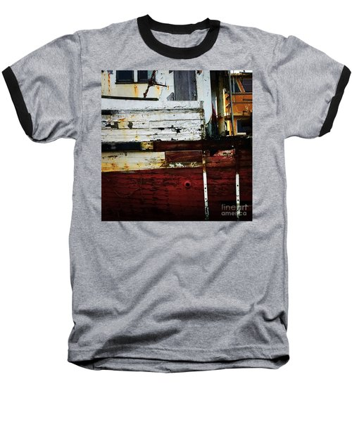 Vintage Astoria Ship Baseball T-Shirt by Suzanne Lorenz