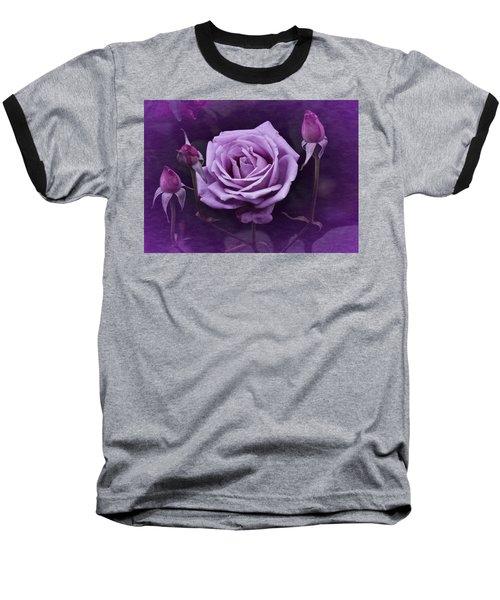 Vintage Aug Purple Rose Baseball T-Shirt