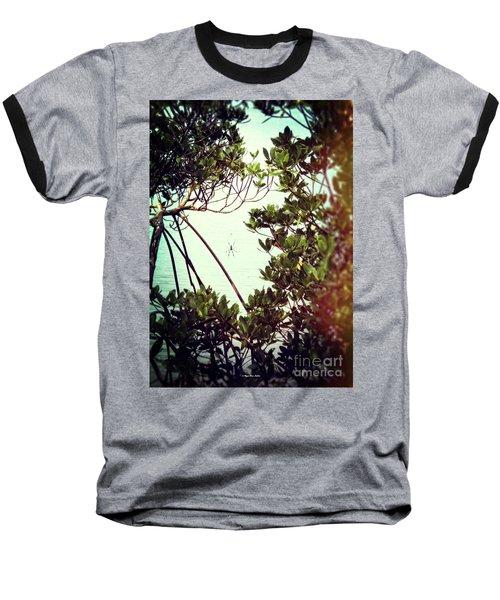 Baseball T-Shirt featuring the digital art Vintage Banana Spider by Megan Dirsa-DuBois