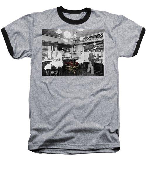 Vintage Barbershop 4 Baseball T-Shirt